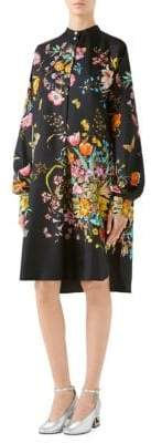 Gucci Silk Floral Tunic Dress