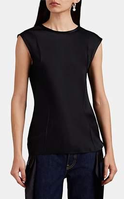 Helmut Lang Women's Self-Tie Satin Sleeveless Top - Black