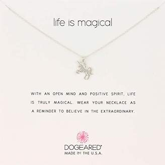 Dogeared Life is Magical Unicorn Sterling Charm Pendant Necklace