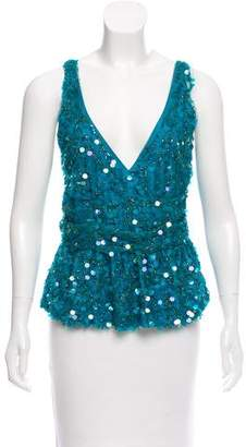 Tracy Reese Sleeveless Embellished Top