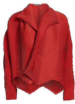 Issey Miyake Women's Montage Garment Pleated Short Jacket