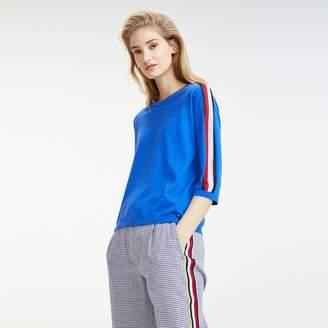Tommy Hilfiger Organic Cotton Racing Stripe Sweater
