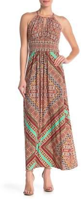London Times Paisley Sleeveless Maxi Dress