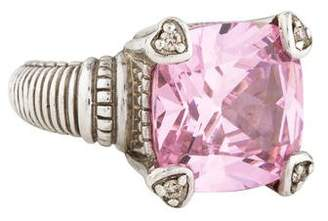 Judith Ripka Pink Crystal & Diamond Fontaine Ring