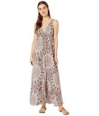 d5823a48e1 Luli Fama La Reina Del Sur Crystalized V-Neck Long Dress Cover-Up