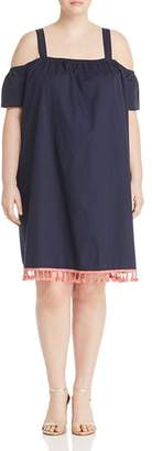 Junarose Plus Olazi Cold-Shoulder Tassel Dress