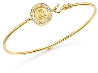 Temple St. Clair 18K Yellow Gold Mini Angel Pavé Diamond Bracelet