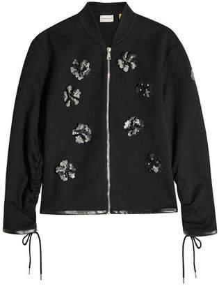 Noir Kei Ninomiya Moncler Genius 6 Moncler Zipped Jacket with Leather Embellishment