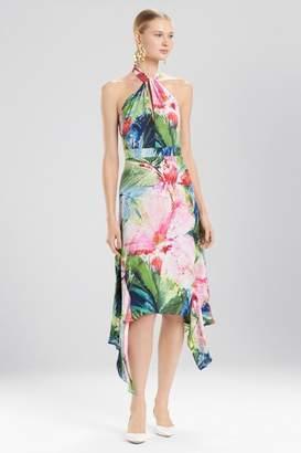 Josie Natori Sunset Palms Halter Maxi Dress
