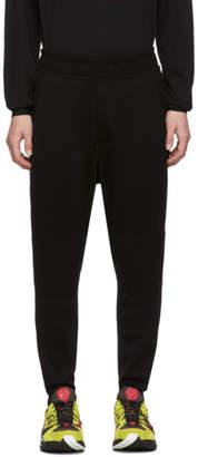 Issey Miyake Black Wool Milan Rib Knee Lounge Pants