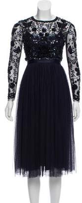 Needle & Thread Embellished Tulle Dress