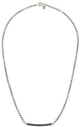 David Yurman Black Diamond Petite Pavé Metro Chain Necklace