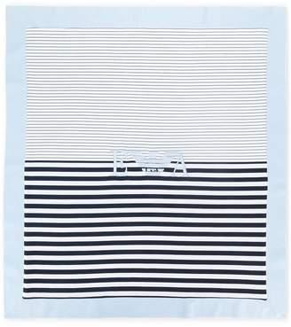 Emporio Armani Kids striped logo scarf