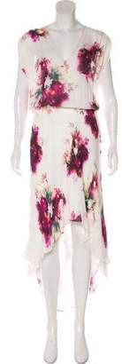 Haute Hippie Floral Print Maxi Dress