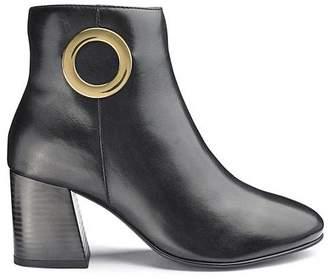 Premium Leather Trim Detail Ankle Boots Wide E Fit