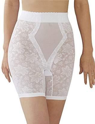 Q-T Intimates QT Intimates Lace Jaquard Long Leg Control Shaper w/ Powermesh