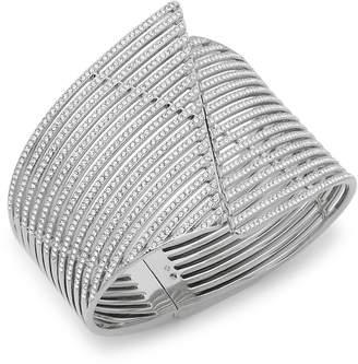 Adriana Orsini Women's Tiered Crystal Wave Cuff Bracelet