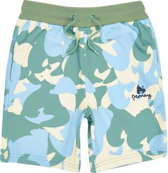 River Island Boys Yellow Money camo jersey shorts