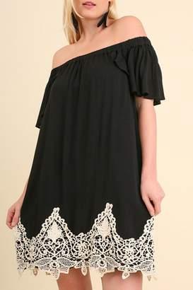 Umgee USA Off the Shoulder Crochet Dress