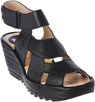 Fly London Leather Wedge Sandals - Yair