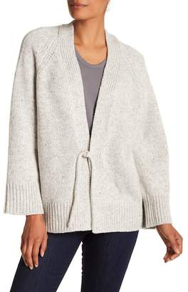 Vince Marled Wool & Cashmere Blend Front Tie Cardigan