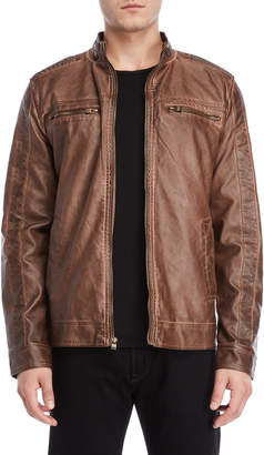 X-Ray X Ray Brown Faux Leather Moto Jacket