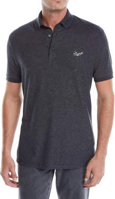 Ermenegildo Zegna Men's Logo Short-Sleeve Polo Shirt
