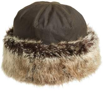 b82f80c136774 ... Barbour  Ambush  Waxed Cotton Hat with Faux Fur Trim