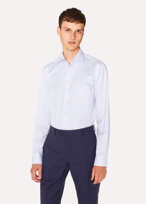 Paul Smith Men's Tailored-Fit Light Blue Stripe Cotton Shirt With 'Artist Stripe' Cuff Lining