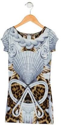 Philipp Plein Junior Girls' Printed Knit Dress