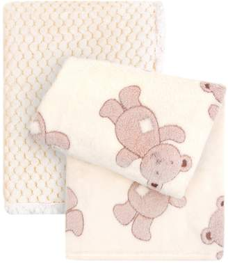 Tadpoles Popcorn Plush & Bear Stroller Blankets
