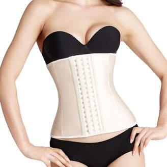 c88f25aeed Atbuty Waist Trainer Corset Women s Latex Workout Waist Cincher Best Body  Shapewear Girdle (2XL