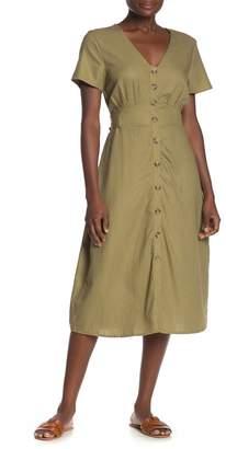 Cotton On Cherry Button Front Midi Dress