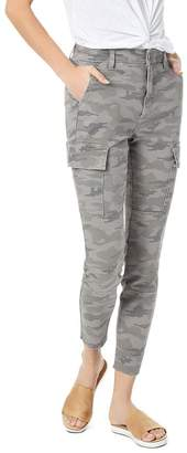 Joe's Jeans Charlie Cargo Skinny Ankle Pants in Gray Camo