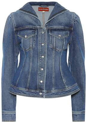 ALEXACHUNG Seamed denim sailor jacket