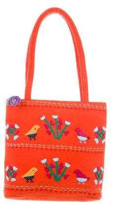 Lulu Guinness Embroidered Shoulder Bag