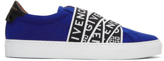 Givenchy Blue Jersey Urban Knots Sneakers