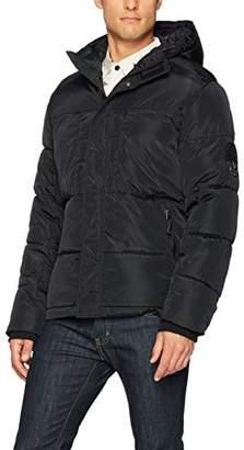Southpole Men's Omni-Heat Softshell Bubble Hooded Outerwear Jacket