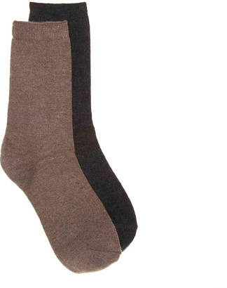 Lemon Solid Cashmere Crew Socks - 2 Pack - Women's