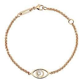 Chopard Women's Happy Diamonds Evil Eye Diamond & 18K Rose Gold Chain Bracelet