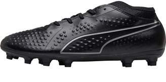 Puma Mens One 4 Syn FG Football Boots Black Black Black