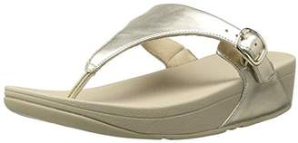 FitFlop Women's The Skinny Leather Toe-Thong Sandal