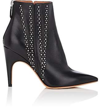 Derek Lam Women's Isla Studded Leather Ankle Boots - Black