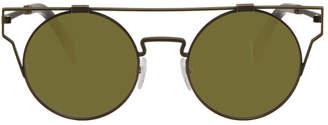 Yohji Yamamoto Gold Round Wire Frame Sunglasses