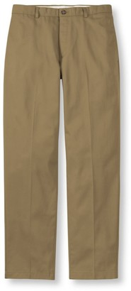 L.L. Bean L.L.Bean Men's Wrinkle-Free Double LA Chinos, Classic Fit Plain Front