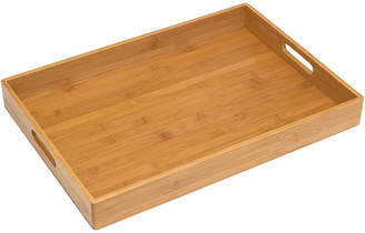 Lipper Solid Bamboo TV Tray With Handles