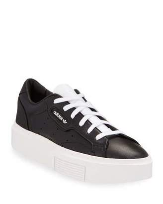 adidas Sleek Leather Lace-Up Sneakers