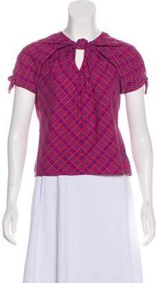 Rachel Comey Plaid Short Sleeve Top