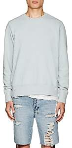 Ksubi Men's Seeing Lines Distressed Cotton Sweatshirt-Green