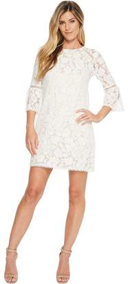 Vince Camuto Lace T Body Shift Dress with 3/4 Sleeve Women's Dress
